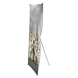 Cartel de repuesto para x-banner de 60 x 160 cm.