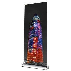 ROLLUP DE LUXE para cartel de 85x200 cm en color aluminio