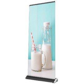 ROLLUP DE LUXE NEGRO para cartel de 85x200 cm en color aluminio
