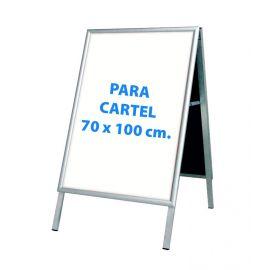 Caballete 70 x 100 cm en aluminio con carteles